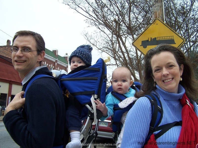 Babywearing at a parade